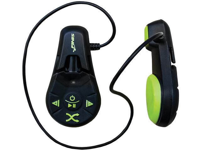 FINIS Duo Reproductor MP3 Subacuático, negro/verde